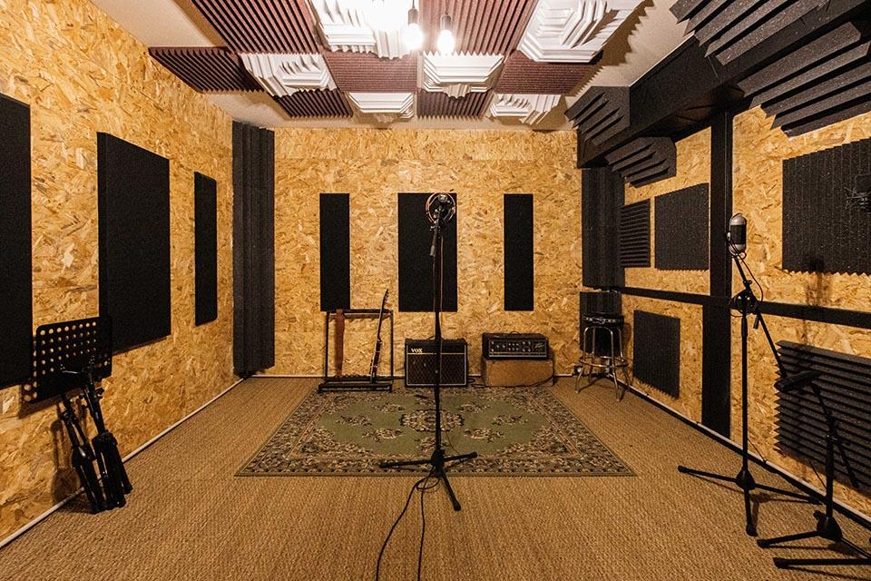 Studio d'enregistrement OHM - cabine © Droits réservés - Photographie : Maelwenn LEDUC
