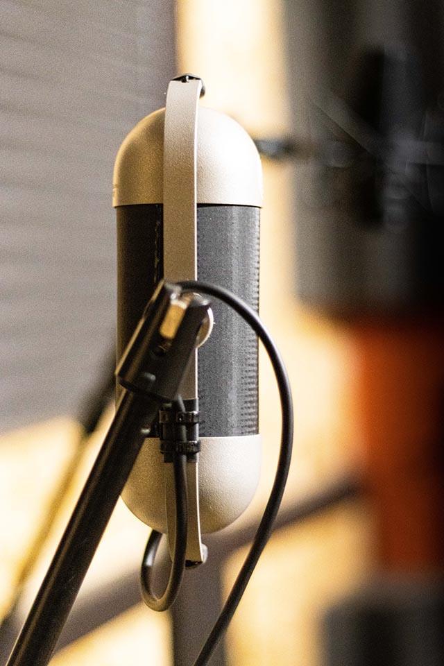 Studio d'enregistrement OHM - micro © Droits réservés - Photographie : Maelwenn LEDUC